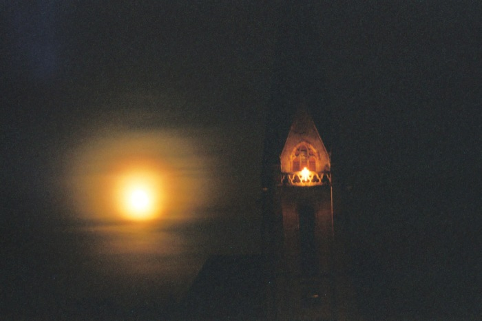 Vollmond Christuskirche Dudweiler