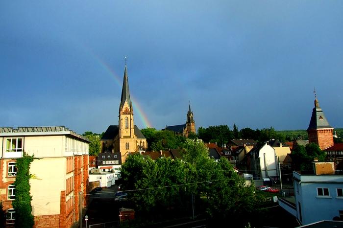 Dudweiler Turmschule Christuskirche St. Marien Kirche Rathaus